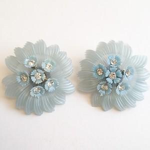 """""""Alice"""" blue flower earring[e-768]"""