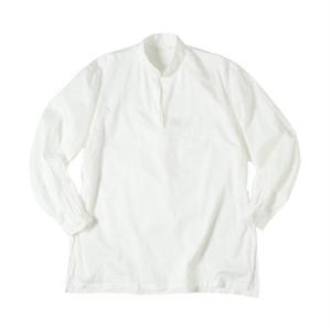 SOWBOW SHIRT -C    (MANDARIN COLLAR Pullover) WHITE