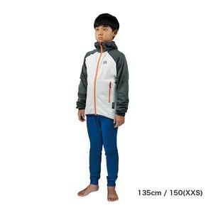 Kids / UN2100 Light weight fleece hoody / Charcoal : Cream