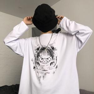 【トップス】カジュアルラウンドネックプルオーバーカートゥーン長袖Tシャツ25974151