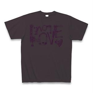 【Tシャツ】チャコール色「LOVE LOVE LOVE」