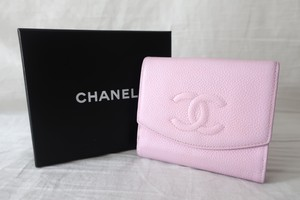 CHANEL Folded Wallet Pink
