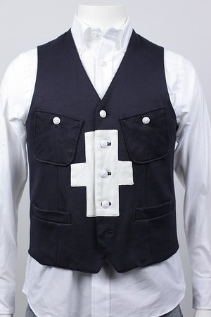 【SAMPLESALE 50%OFF】VEST Supima 鹿の子 品番:171001 col.29 Midnight-Navy