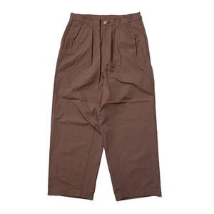 NOROLL / THICKWALK PANTS -SMOKE BROWN-
