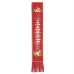 革製ブックマーク ヘンリー王子ご結婚記念【レッド】R.C.Brady 90251-RED