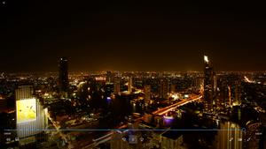 動画素材、夜景、高いビルからのタイ、バンコクの風景のタイムラプス