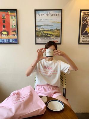 全5色Bebe刺繍ロゴTシャツ