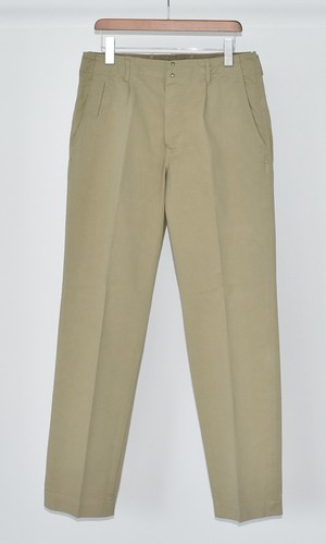 【ARCHIVE】ONE PLEAT BACK STRAP PANTS BEIGE