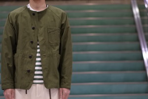 【maillot】military n/c utility JK col.OLIVE