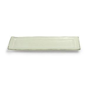 aito製作所 「翠 Sui」焼き魚皿 長角皿 約28×9cm 月白 美濃焼 288230
