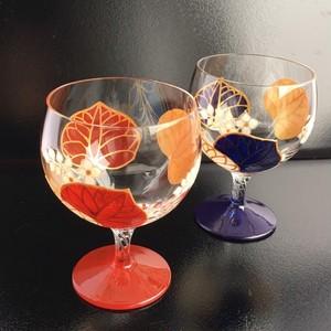【葵】赤あおい日本酒グラス ガラスのお猪口/父の日ギフト・誕生日プレゼント