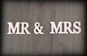 """ウッドサイン """"Mr. & Mrs."""""""