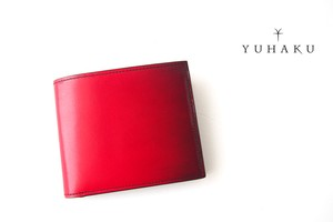 ユハク|YUHAKU|二つ折り財布|手染め|Luce e Ombra|レッド