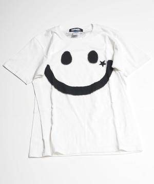 RAKUGAKI BIG SMILE T-Shirts White x Black