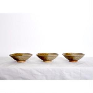 うつわ屋まる【小鉢 - 飴灰 half -】hand made / 笠間焼 / japan 小皿 bowl