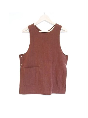 【40%OFF】BRISEMY Acid cloth slit vest ブライズミー アシッドクロススリットベスト
