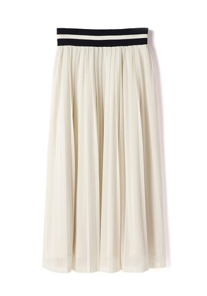 (フレッドペリー) FRED PERRY F8363 09 WOMEN PLEATED LONG SKIRT ロングスカート OFF WHITE