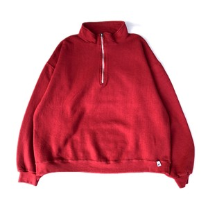 USED 00's Russell Athletic Half Zip Sweat - red
