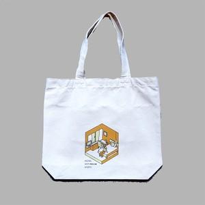 ポケット付きイラストトートバッグ  Illustration tote bag with pocket