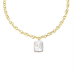 square pearl necklace