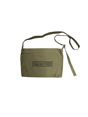 LIFE'S  MESSENGER BAG [OLIVE]
