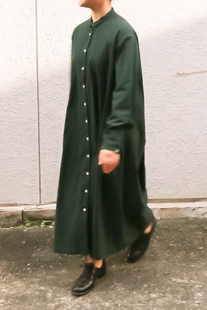 susuri/ススリ ヘムレンシャツワンピース bottole green #19-259