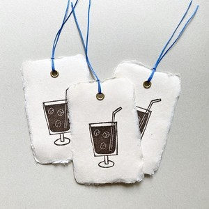 message tag / bookmark (iced coffee)