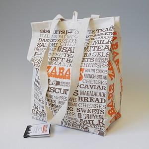 【再入荷】ZABAR'S ゼイバーズ エコトートバッグ キャンバスコットン 新柄 (large)(※メール便で発送します。全国送料無料です。)