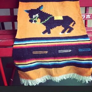 vintage‼︎  mexican rug *horse*orange
