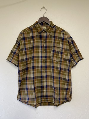 F.O.B  FACTORY  H/S Check Ball Shirt / BEIGE