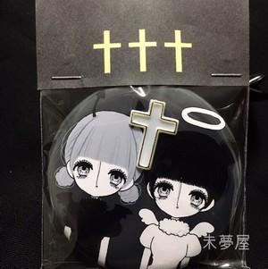 【限定】天使と悪魔缶バッチ十字架付き