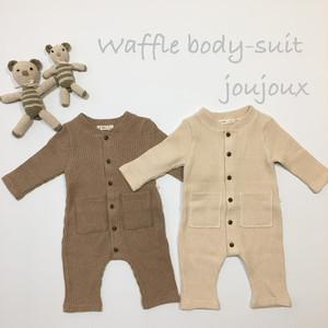 『翌朝発送』waffle body-suit ☜ knit【baby】