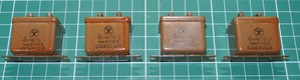 ロシア軍用 オイル コンデンサ(PIO) 紙オイル 1uF 630V 4個セット