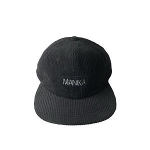 MANIKA  LOGO / 6Panel Cord Cap / Black