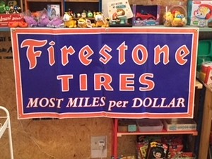 US GARAGE BANNER FIRESTONE