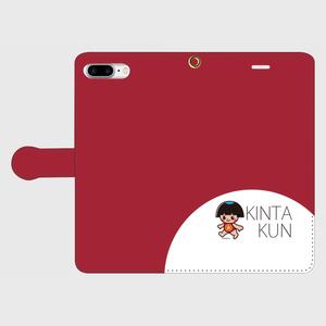 手帳型ケースiphone8Plus用 レッド