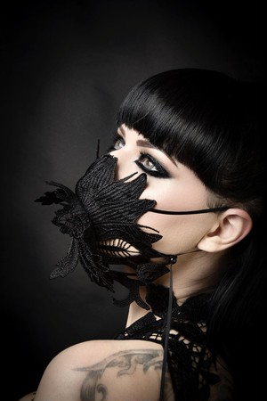 Flower lace mask