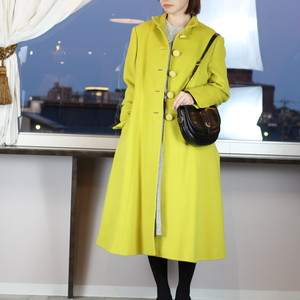 .Christian Dior BOUTIQUE CASHMERE BREND WOOL COAT MADE IN FRANCE/クリスチャンディオールブティックカシミヤ混ウールコート 2000000041131