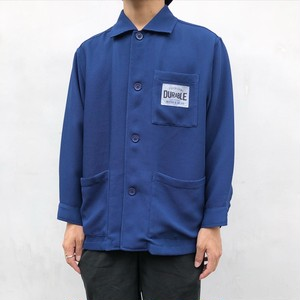 """Y's for living"" Navy blue poly thermal design work shirt blouson"