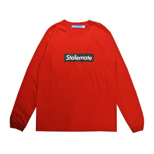 【STALEMATE】BOX LOGO L/S TEE(RED)