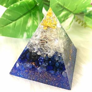 【幸運引き寄せます】ピラミッド型(大) オルゴナイト ラピスラズリ