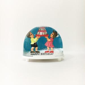 HAPPYBIRTHDAY スノードーム WALTER&PREDIGER社