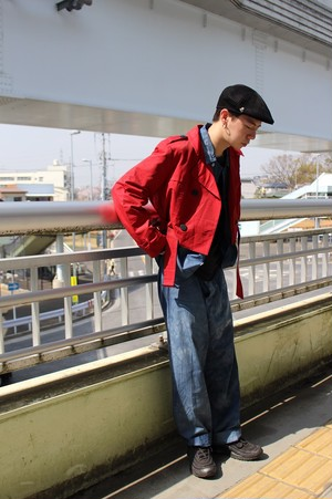 Remake Cutting Trench Jacket
