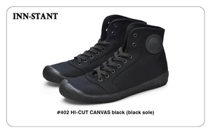 #402 HI-CUT CANVAS black (black sole) INN-STANT インスタント 【消費税込・送料無料】