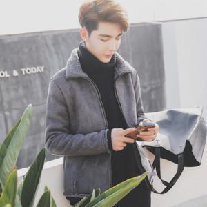【アウター】秋冬裏地ラムウール折り襟暖かい韓国系ファッションショートコーヒー24835691