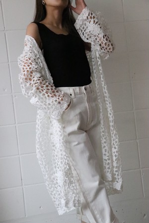 70's cut-work lace gown
