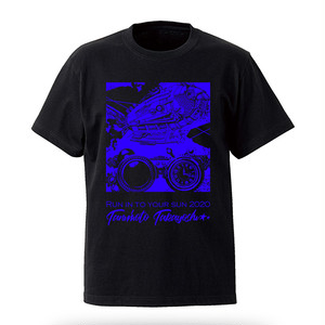 「Run into your sun 2020」T-shirt Black&Blue