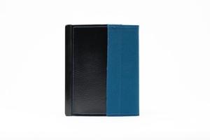 アモルフ 閉じる ブックカバー 手帳カバー A6(文庫)サイズ 倉敷帆布ブルー