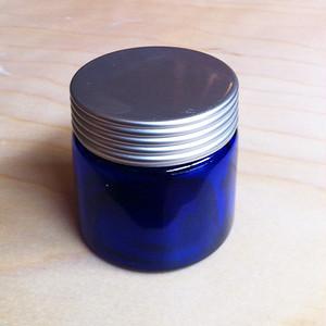 広口ブルーガラスジャー(大)60ml