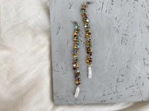 mix beads long pierce/earrings